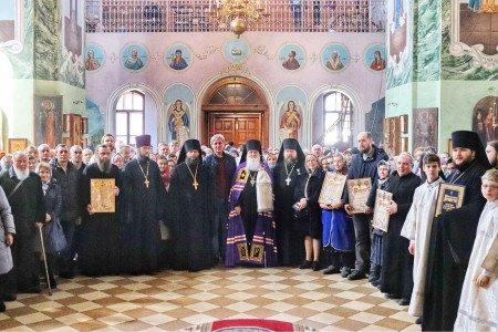 Великое освящение храма Преподобных отцев Киево-Печерских в Гуслицком монастыре