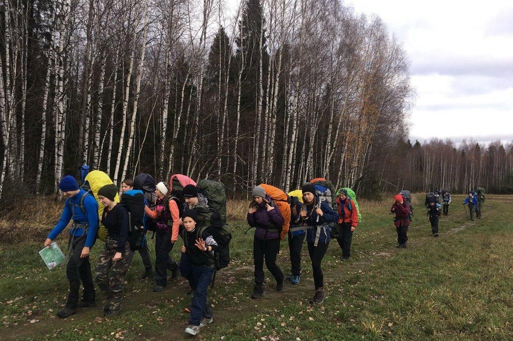 Поход балашихинских школьников по Подмосковью