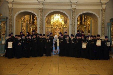 Награждение духовенства Московской епархии в Новодевичьем монастыре
