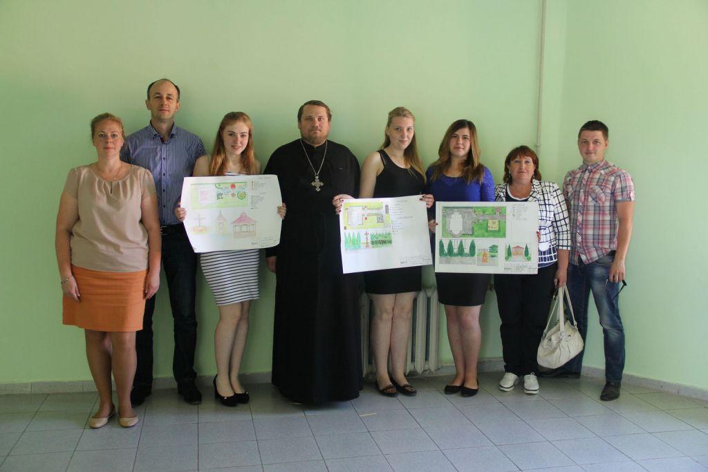 Подведение итогов конкурса проектов благоустройства территории храма в Новосинькове